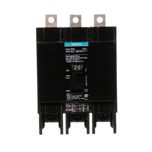 small resolution of 20 amp triple pole type bqd bolt on circuit breaker