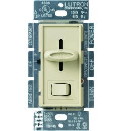 lutron skylark c l dimmer switch for dimmable led halogen and incandescent bulbs single  [ 1000 x 1000 Pixel ]