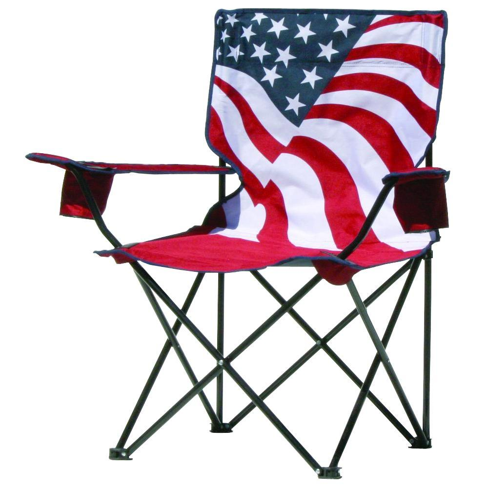 home depot camping chairs chair covers wholesale cheap quik american flag pattern folding patio quad chair-133924 - the