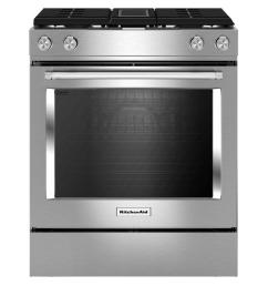 kitchenaid 6 4 cu ft downdraft slide in dual fuel range with self  [ 1000 x 1000 Pixel ]