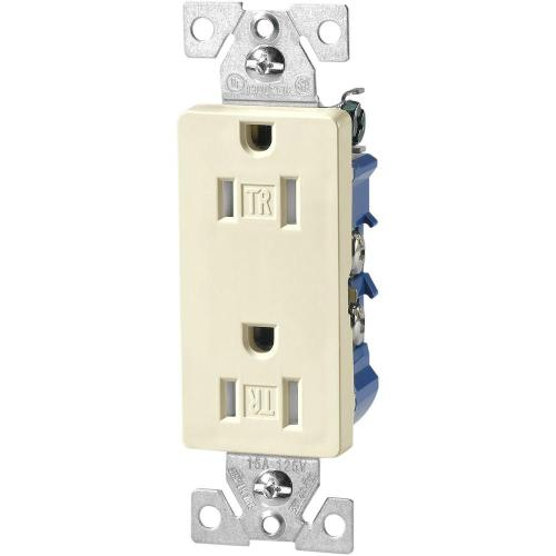 small resolution of eaton 15 amp tamper resistant decorator duplex outlet receptacle with side and push wire light