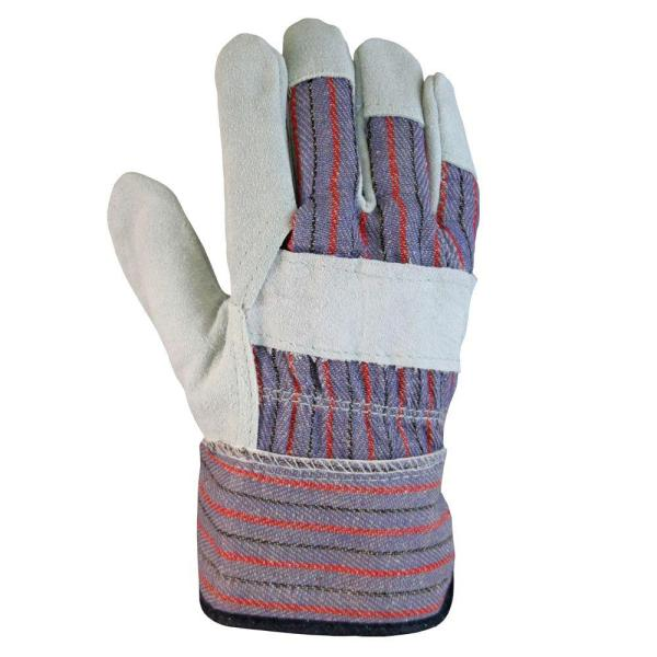 Firm Grip Leather-palm Large Gloves 3-pairs -6023-24