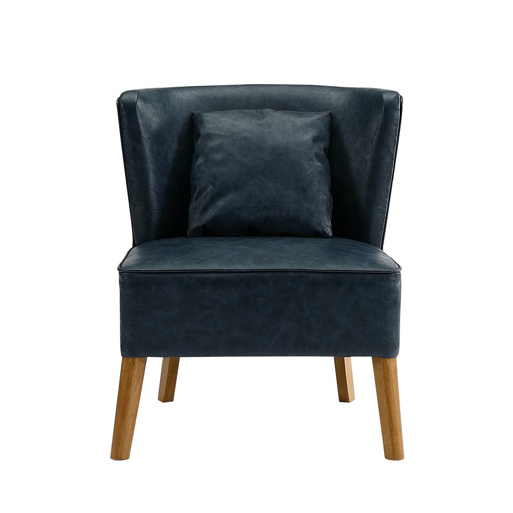Curved Back Chair Walker Edison Furniture Company Navy Blue Accent Chair With Curved Back