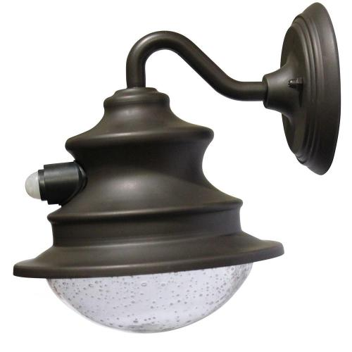 small resolution of barn solar brown outdoor integrated led wall light with motion sensor