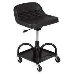 Rolling Stool Chair Desk Legs Utility Padded Cushioned Seat Adjustable Height Steel Frame