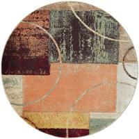 Tayse Rugs Deco Multi 7 ft. 10 in. Contemporary Round Area