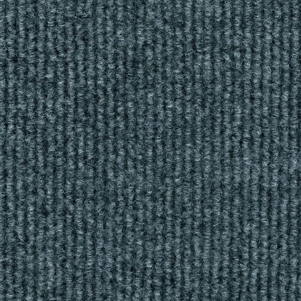 TrafficMASTER Sisteron Sky Grey Wide Wale Texture 18 in x 18 in IndoorOutdoor Carpet Tile 10
