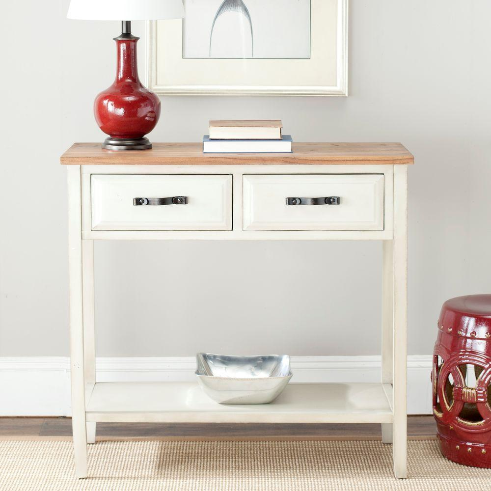 Safavieh Manelin Ash Gray Storage Console TableAMH6641C  The Home Depot