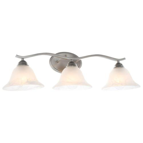 small resolution of hampton bay andenne 3 light brushed nickel vanity light with bell shaped marbleized glass shades