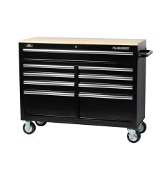 d 9 drawer tool chest mobile workbench with solid wood top [ 1000 x 1000 Pixel ]