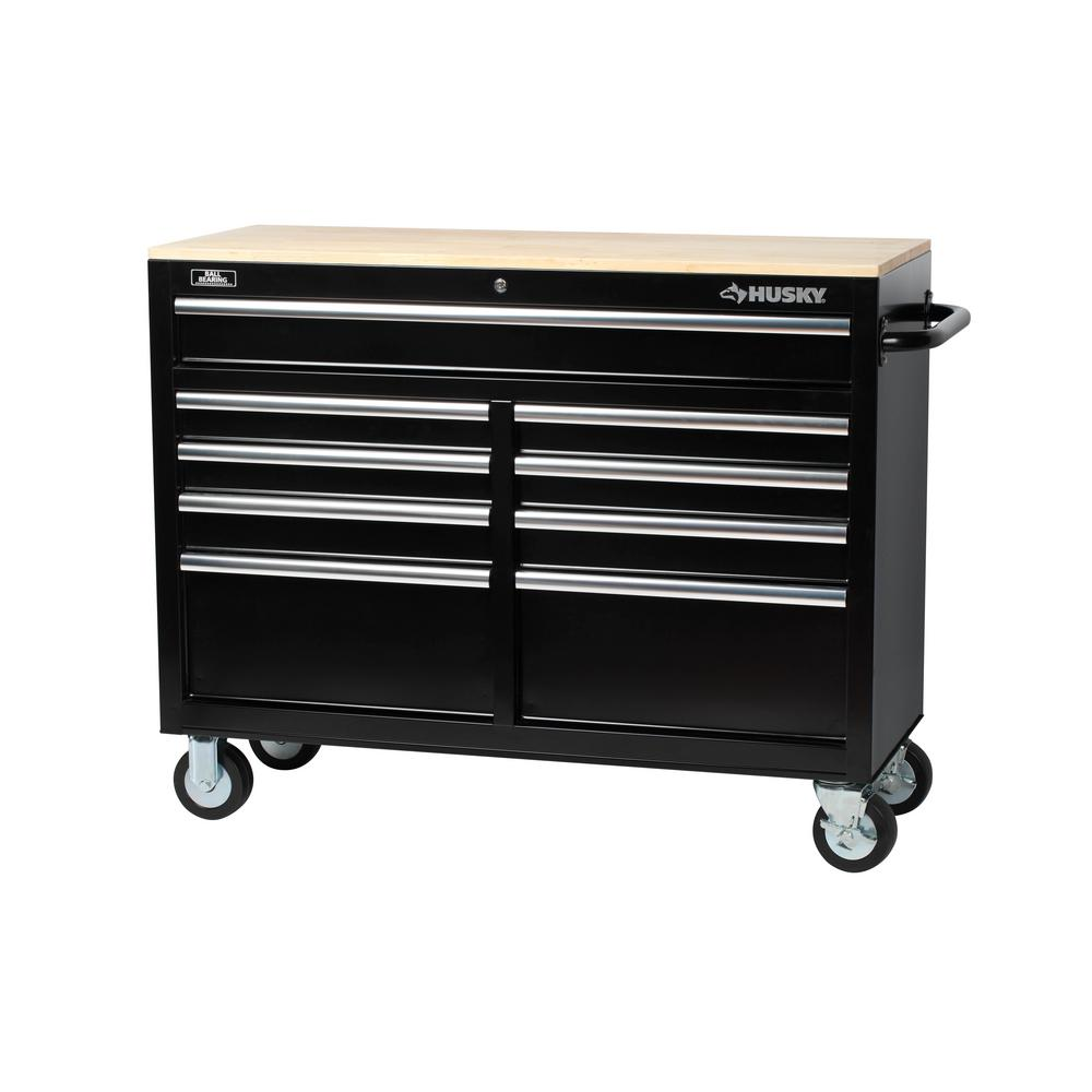hight resolution of d 9 drawer tool chest mobile workbench with solid wood top