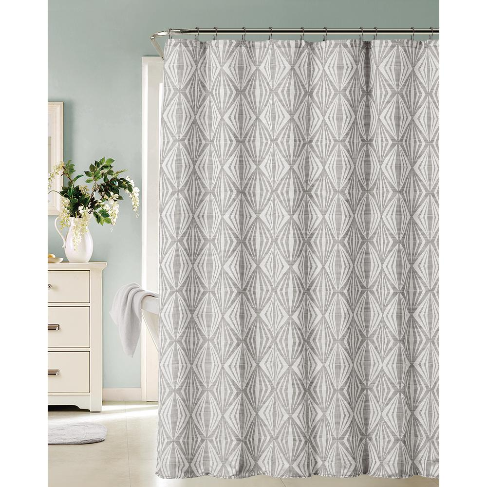 Romance 72 in Silver Shower CurtainROMANSCSI  The Home Depot