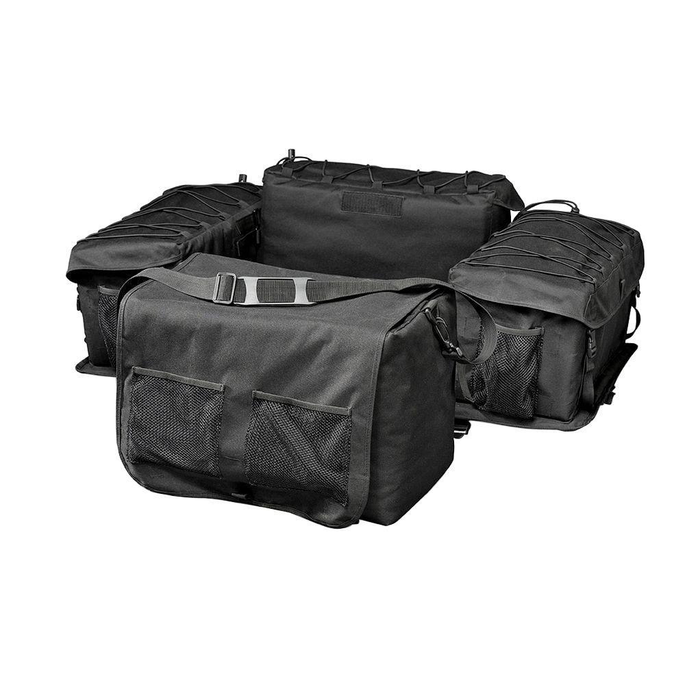 medium resolution of raider deluxe black atv rack bag