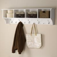 Prepac 60 in. Wall-Mounted Coat Rack in White-WEC-6016 ...