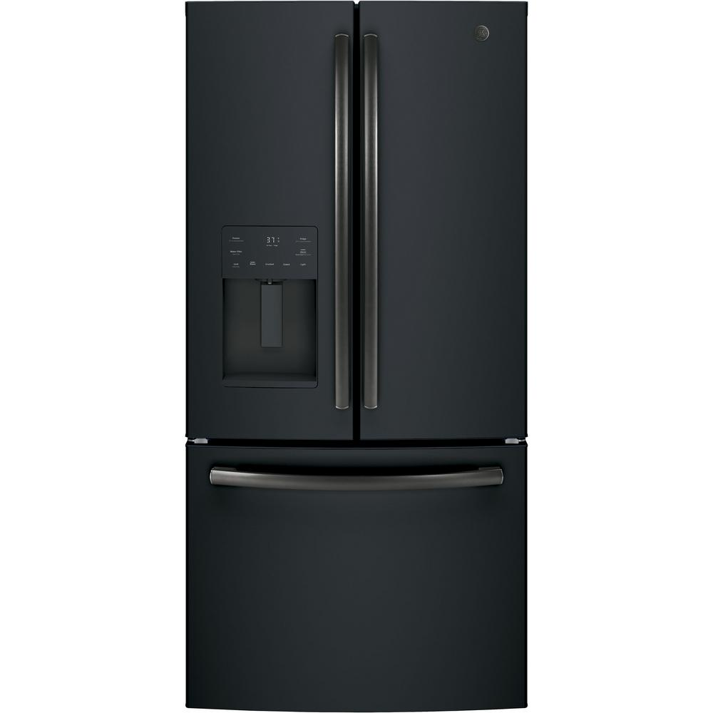 hight resolution of counter depth french door refrigerator in black slate