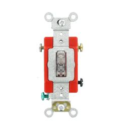 leviton 20 amp industrial grade heavy duty single pole pilot light wiring a basic on off singlepole standard duty switch to a light or [ 1000 x 1000 Pixel ]