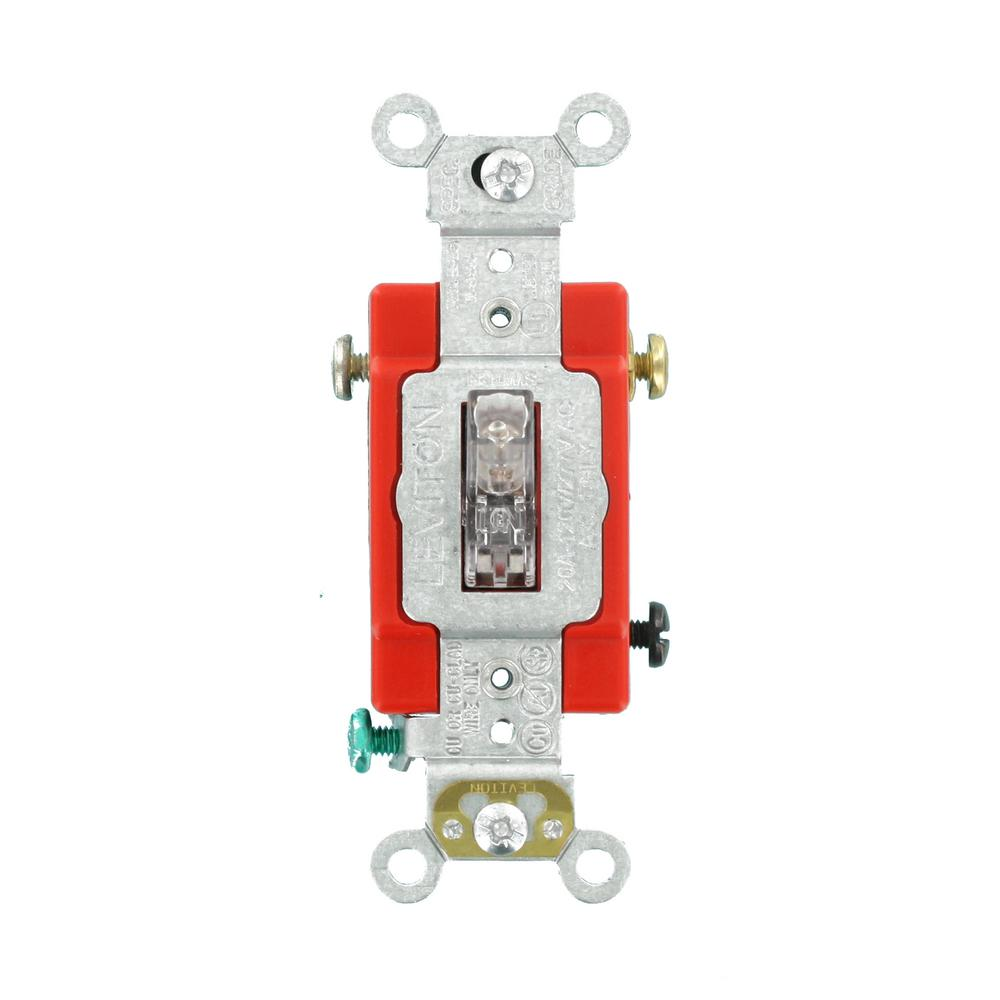 hight resolution of leviton 20 amp industrial grade heavy duty single pole pilot light wiring a basic on off singlepole standard duty switch to a light or