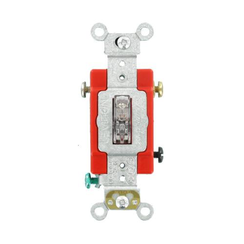 small resolution of leviton 20 amp industrial grade heavy duty single pole pilot light wiring a basic on off singlepole standard duty switch to a light or