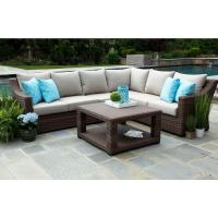 Canopy Alder 5-Piece Resin Wicker Outdoor Sectional with ...