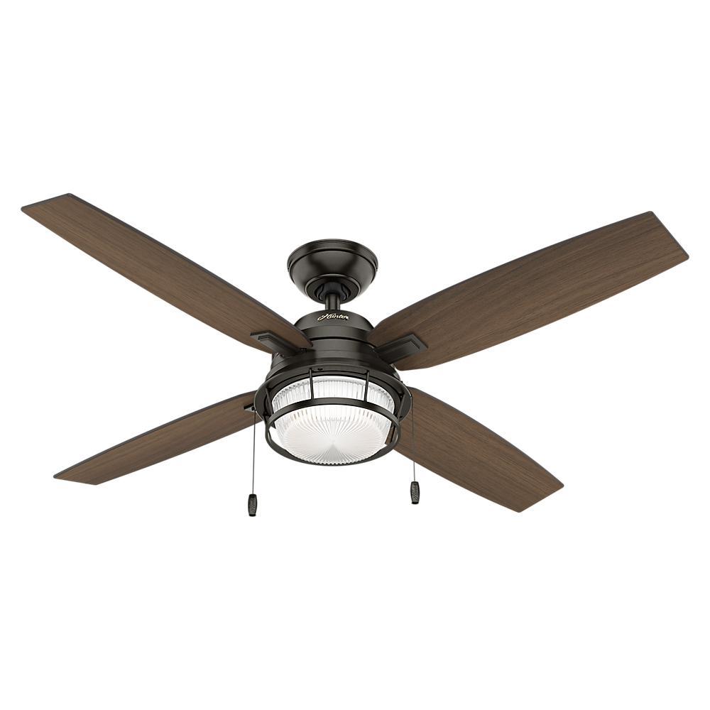 Hunter Ocala 52 in. LED Outdoor Noble Bronze Ceiling Fan