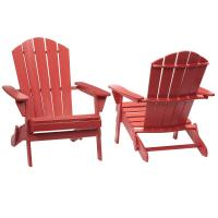 Hampton Bay Chili Red Folding Outdoor Adirondack Chair (2 ...