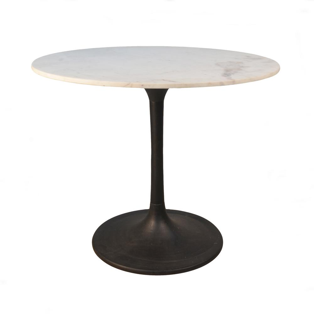 round black kitchen table where to buy islands 36 in enzo marble top dining mt3636 blk the home depot