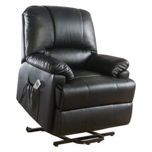 heavy duty lift chair canada ergonomic small harper bright designs brown faux leather recliner power ixora black leatherette massage