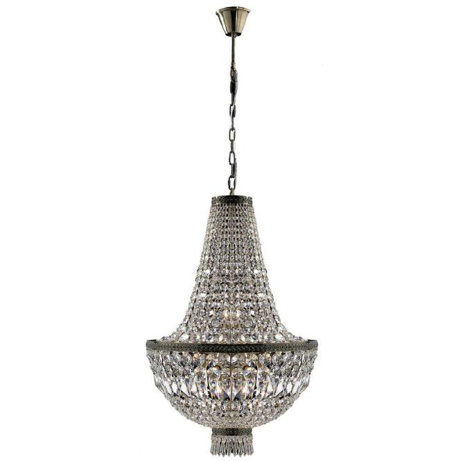 Worldwide Lighting Metropolitan Collection 8 Light Antique Bronze And Clear Crystal Chandelier