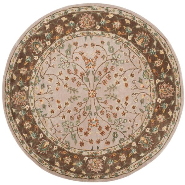 Taupe Area Rugs Round