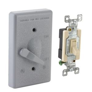 gfci outlet with switch wiring diagram pw50 ge 20 amp backyard and gfi receptacle u010s010grp 1 gang weatherproof toggle cover kit