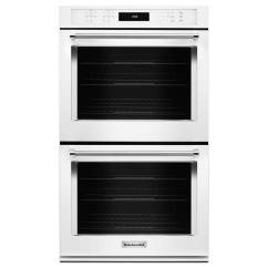 Kitchen Aid Wall Oven Black Table Kitchenaid 27 In Double Electric Self Cleaning With Convection White