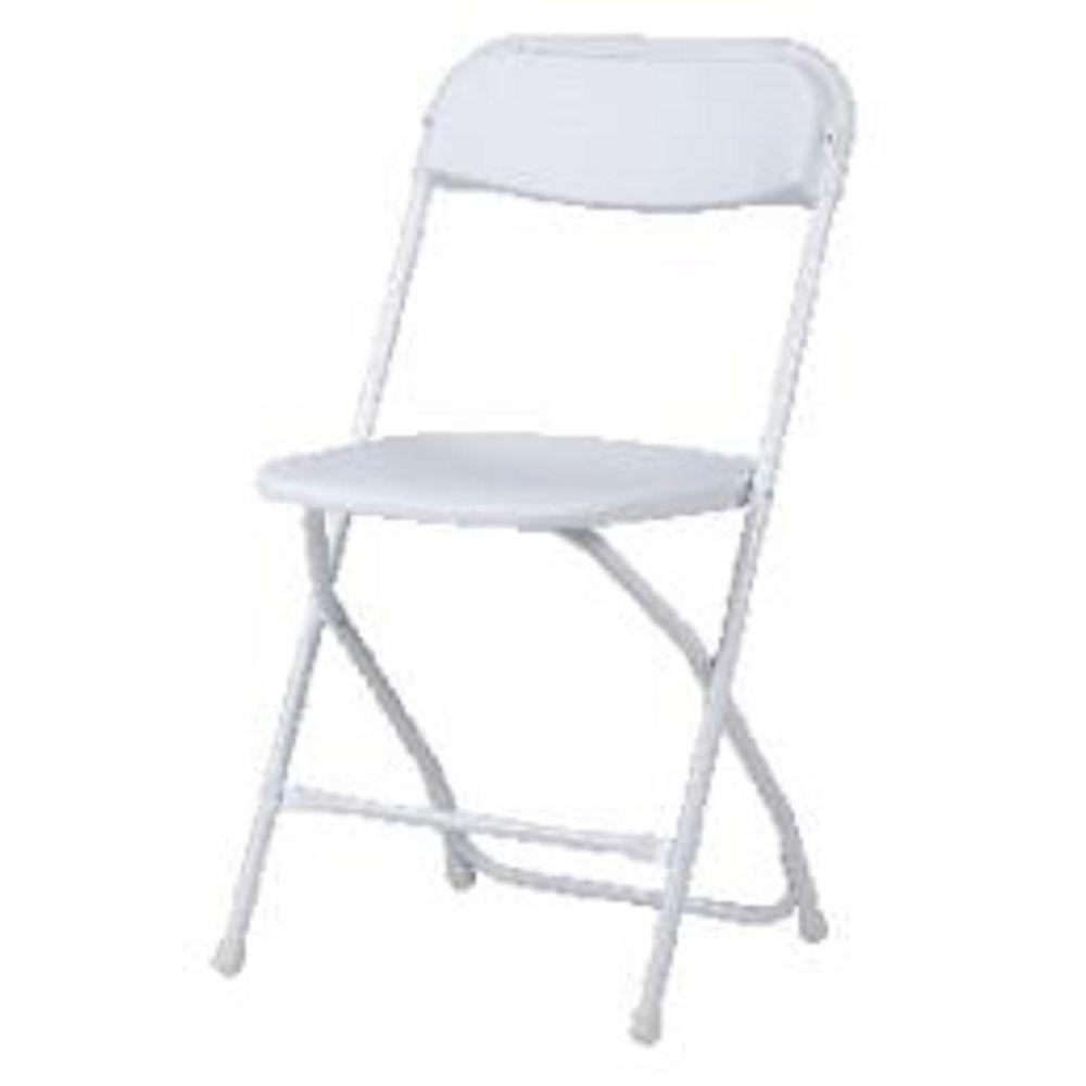 Cosco Folding Chair Cosco White Plastic Seat Metal Frame Outdoor Safe Folding Chair Set Of 8
