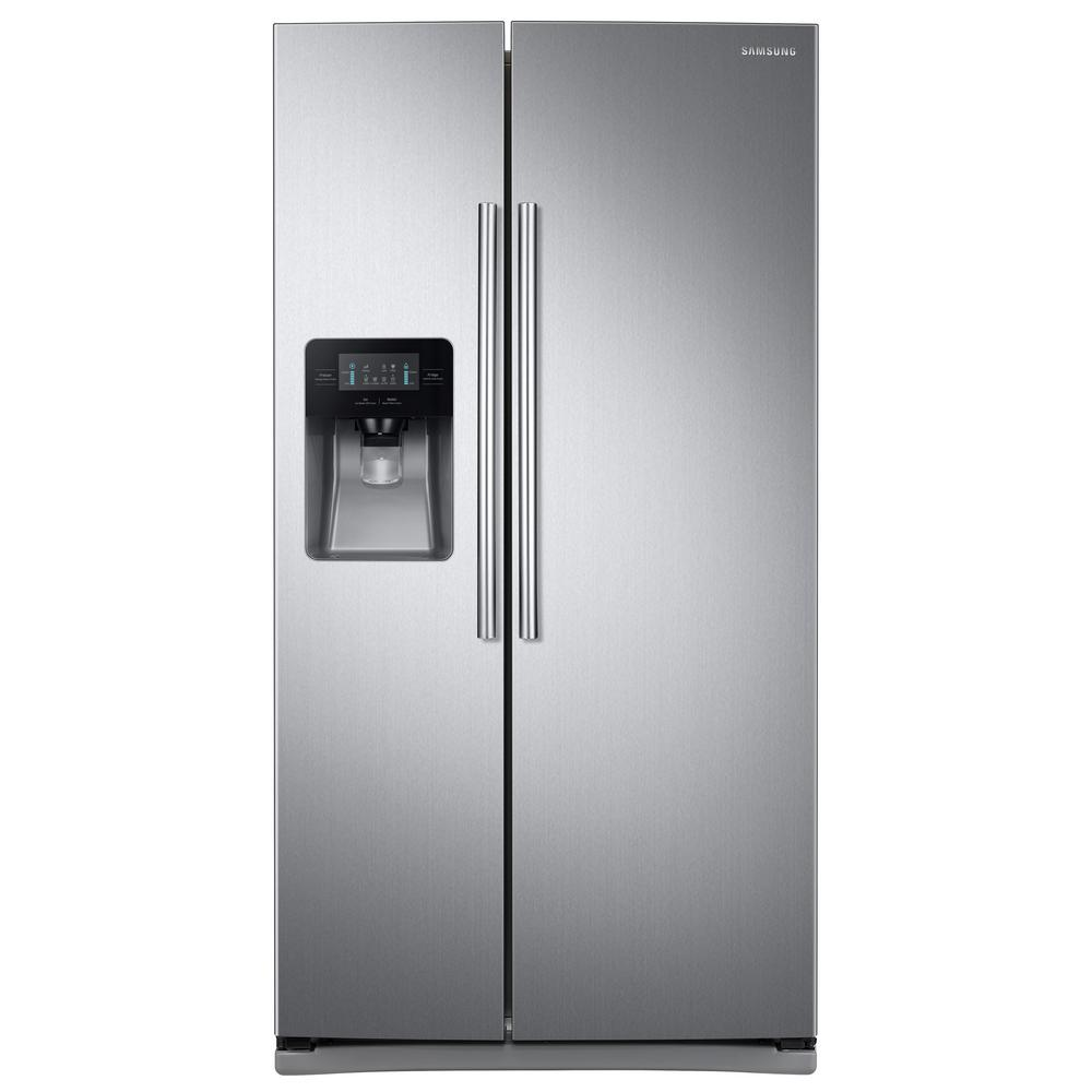 hight resolution of samsung 24 5 cu ft side by side refrigerator in stainless steel