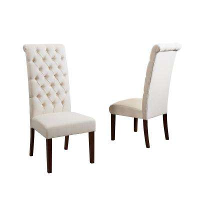 tall back dining chairs office chair surabaya tufted kitchen room george natural fabric