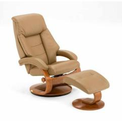 Leather Swivel Recliner Chair And Ottoman Thomasville Cane Back Dining Chairs Sand Top Grain With 58 Lo3 24 103 The Home Depot