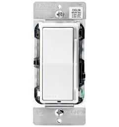 leviton decora 600 watt single pole 3 way universal rocker slide dimmer [ 1000 x 1000 Pixel ]