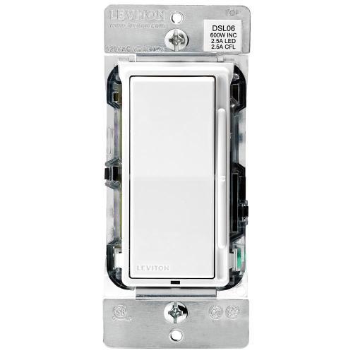 small resolution of leviton decora 600 watt single pole 3 way universal rocker slide dimmer