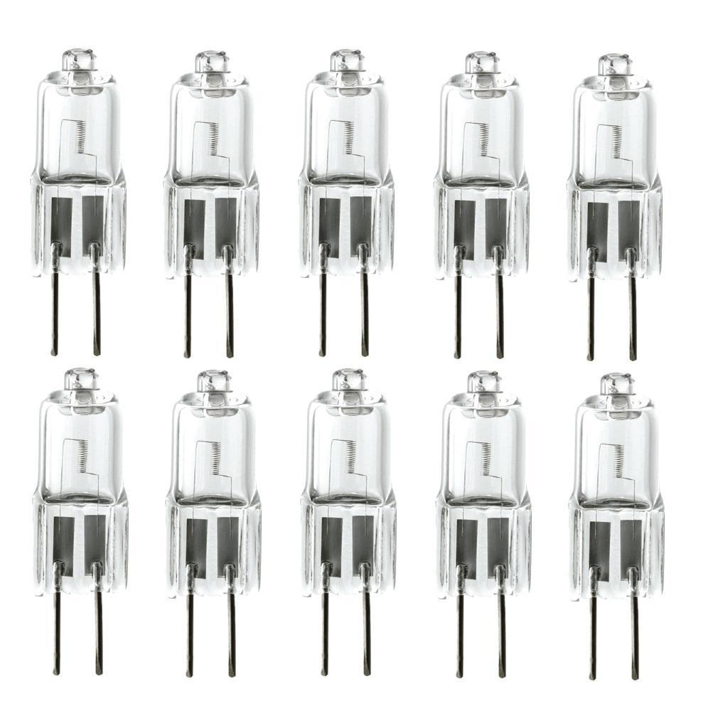 20-Watt JC Type G4 Bi Pin Base Halogen Light Bulbs (10