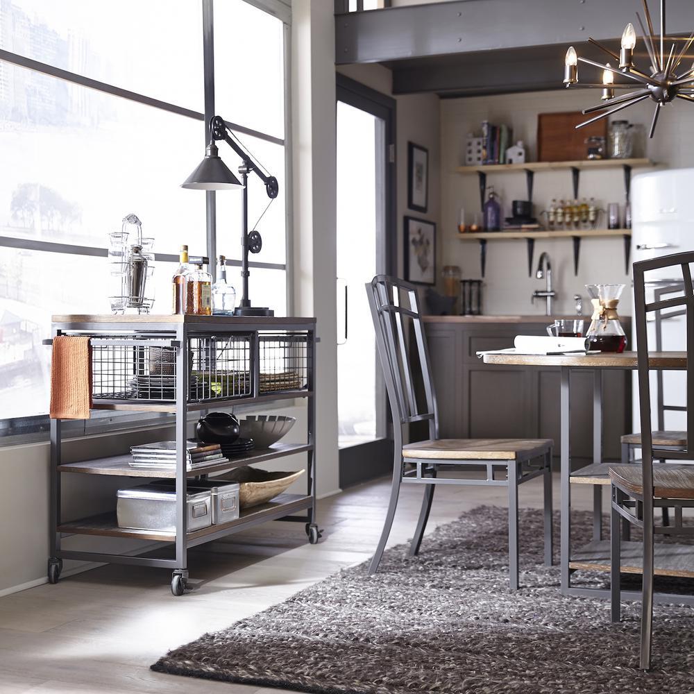home styles kitchen cart cheap barnside metro gray 5053 95 the depot