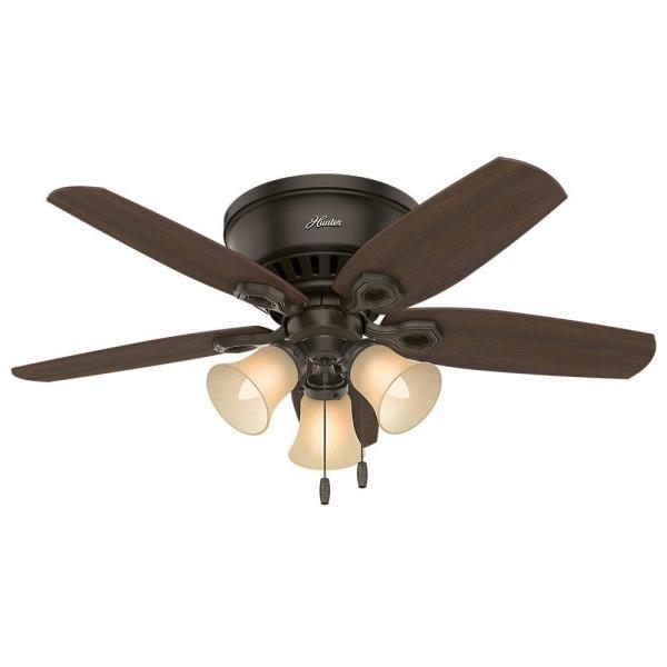 Hunter Builder Profile 42 In. Indoor Bronze Ceiling Fan-51091 - Home Depot