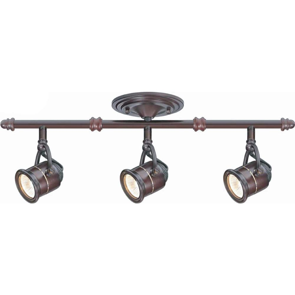 Hampton Bay 3-Light Antique Bronze Ceiling Bar Track