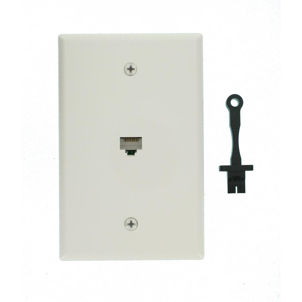 medium resolution of cat5e data mid sized wall plate white