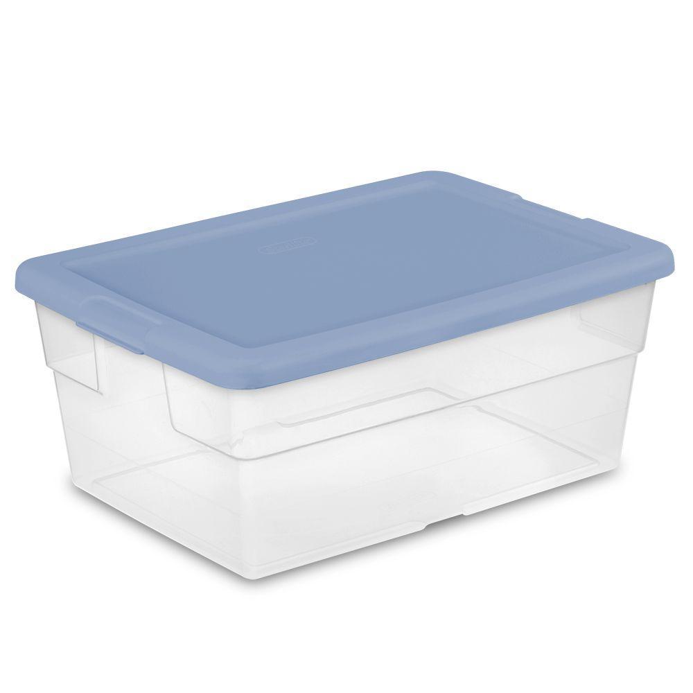 Wonderful Plastic Storage Bins With Lids - blue-sterilite-storage-bins-totes-16441012-64_1000  Perfect Image Reference_536224.jpg