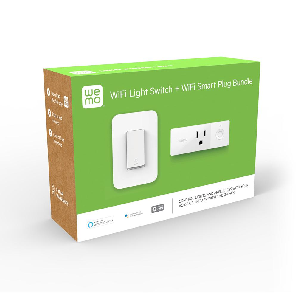 medium resolution of wemo wi fi light switch and smart plug bundle