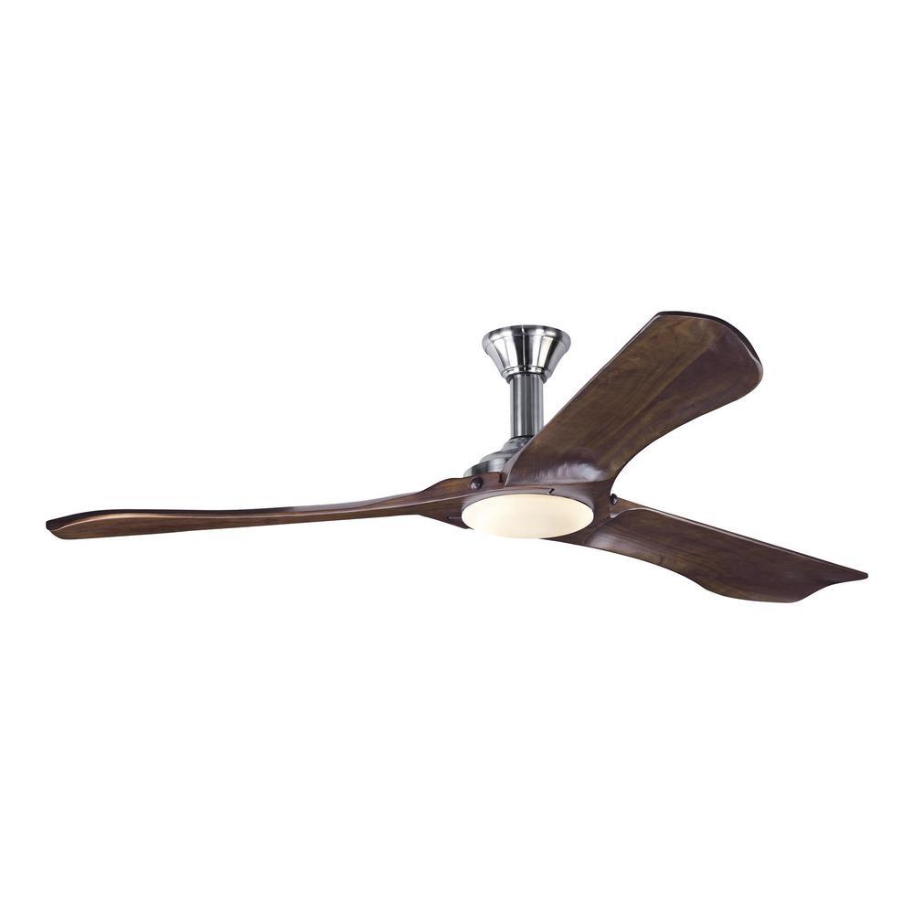 monte carlo discus ii 44 in indoor brushed steel ceiling fan with