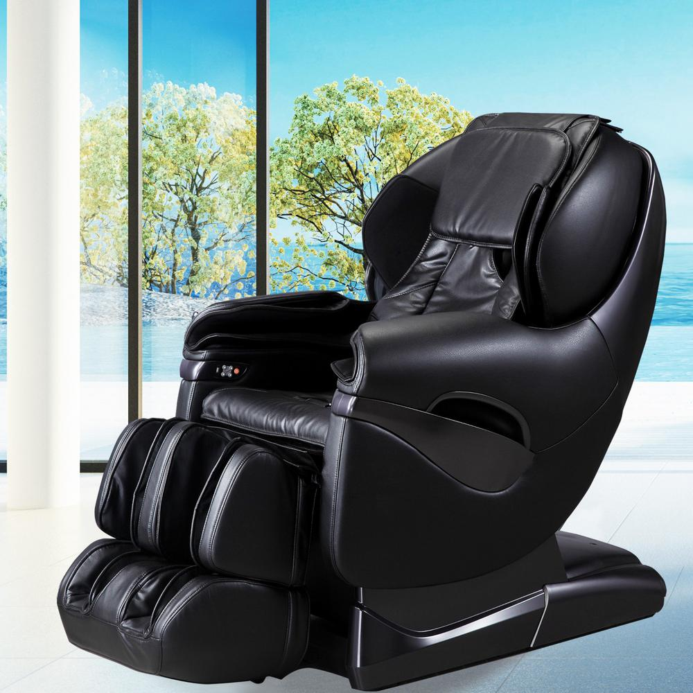 recliner massage chair folding plastic titan pro series black faux leather reclining tp