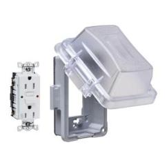 Gfci Outlet With Switch Wiring Diagram Pioneer Premier Deh P400ub Ge 20 Amp Backyard And Gfi Receptacle U010s010grp 1 Gang Horizontal Or Vertical Mount Weatherproof Extra Duty In Use Cover