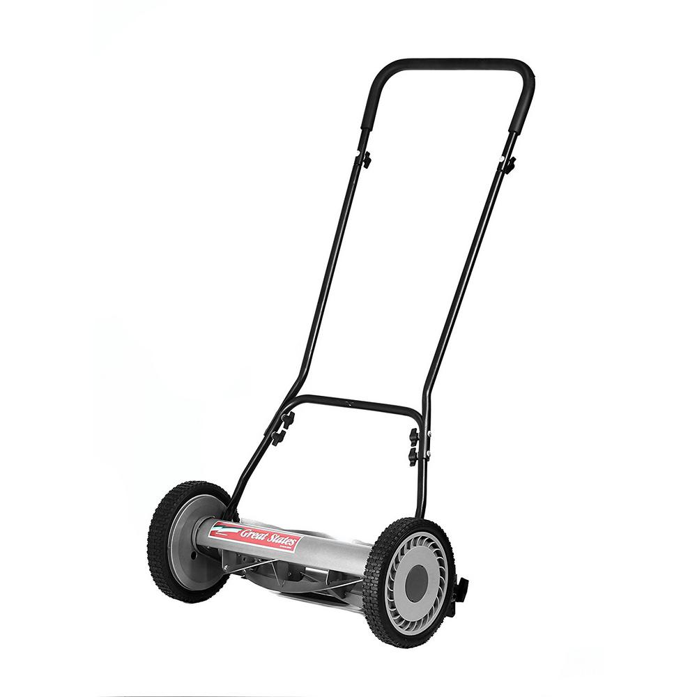 hight resolution of great states corporation 18 in manual walk behind non electric reel lawn mower