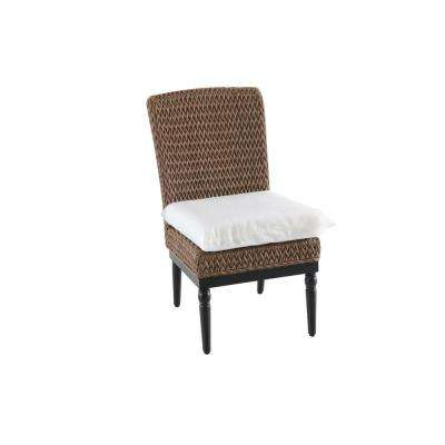 slipcover for armless chair pride lift removeable outdoor dining chairs patio camden light brown wicker with cushions included choose your own color