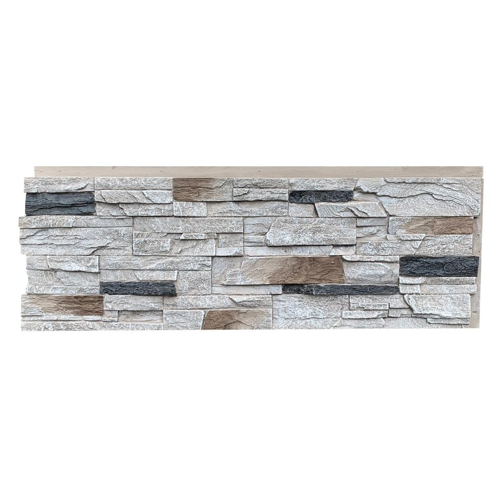 Nextstone Country Ledgestone 43 5 In X 15 5 In Faux Stone Siding Panel In Dover White 4 Pack Clp Dvw 4 The Home Depot